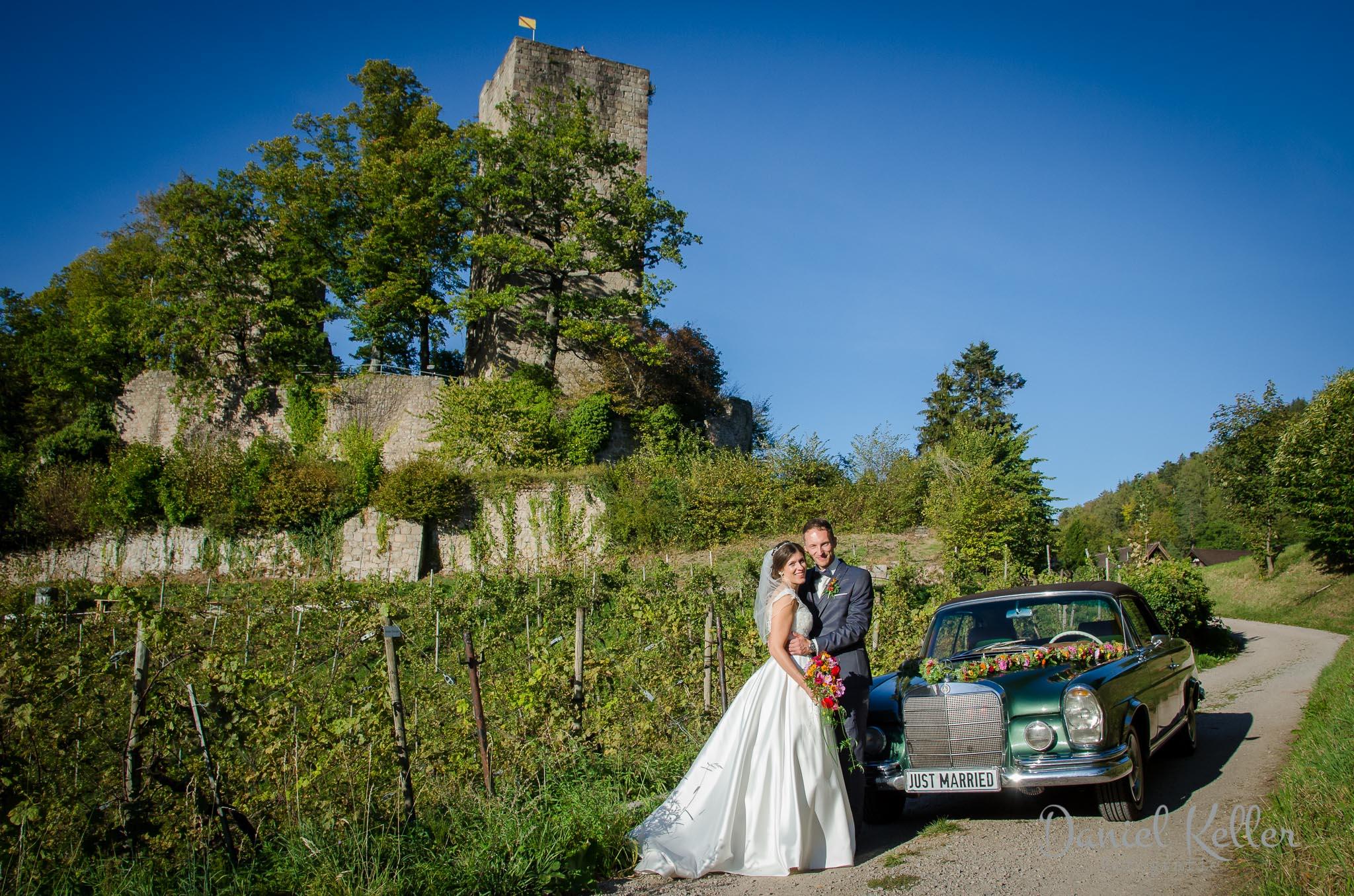Paarhooting Burg Windeck in Bühl / Daniel Keller Hochzeitsfotograf