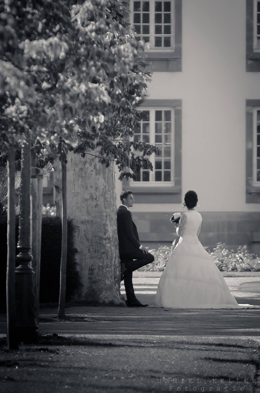 Brautpaar schwarz/weiß  / Daniel Keller Fotografie