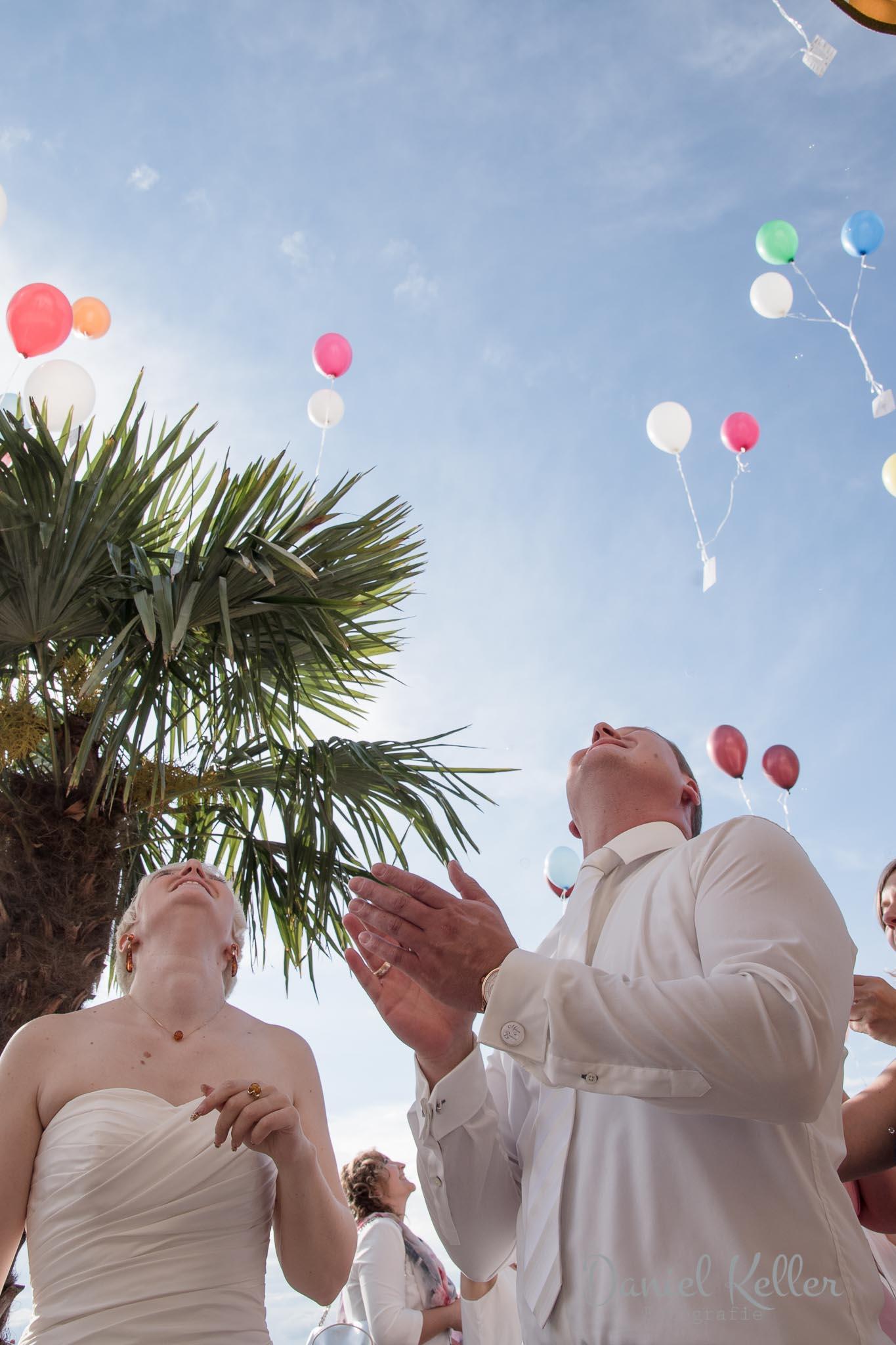Hochzeit Luftballon Jägersteig Bühl / Daniel Keller Fotografie
