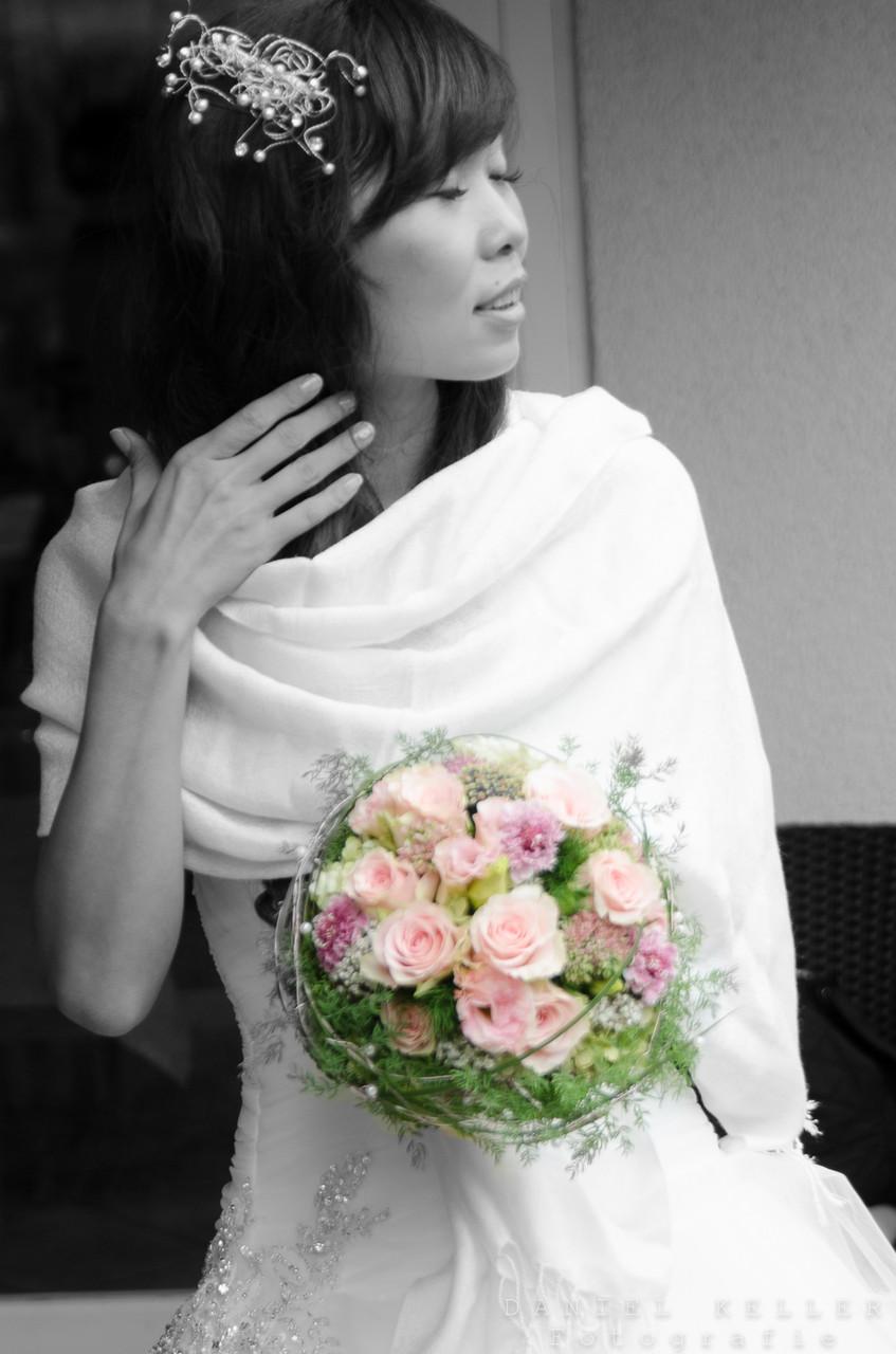 Braut colorkey / Daniel Keller Fotografie