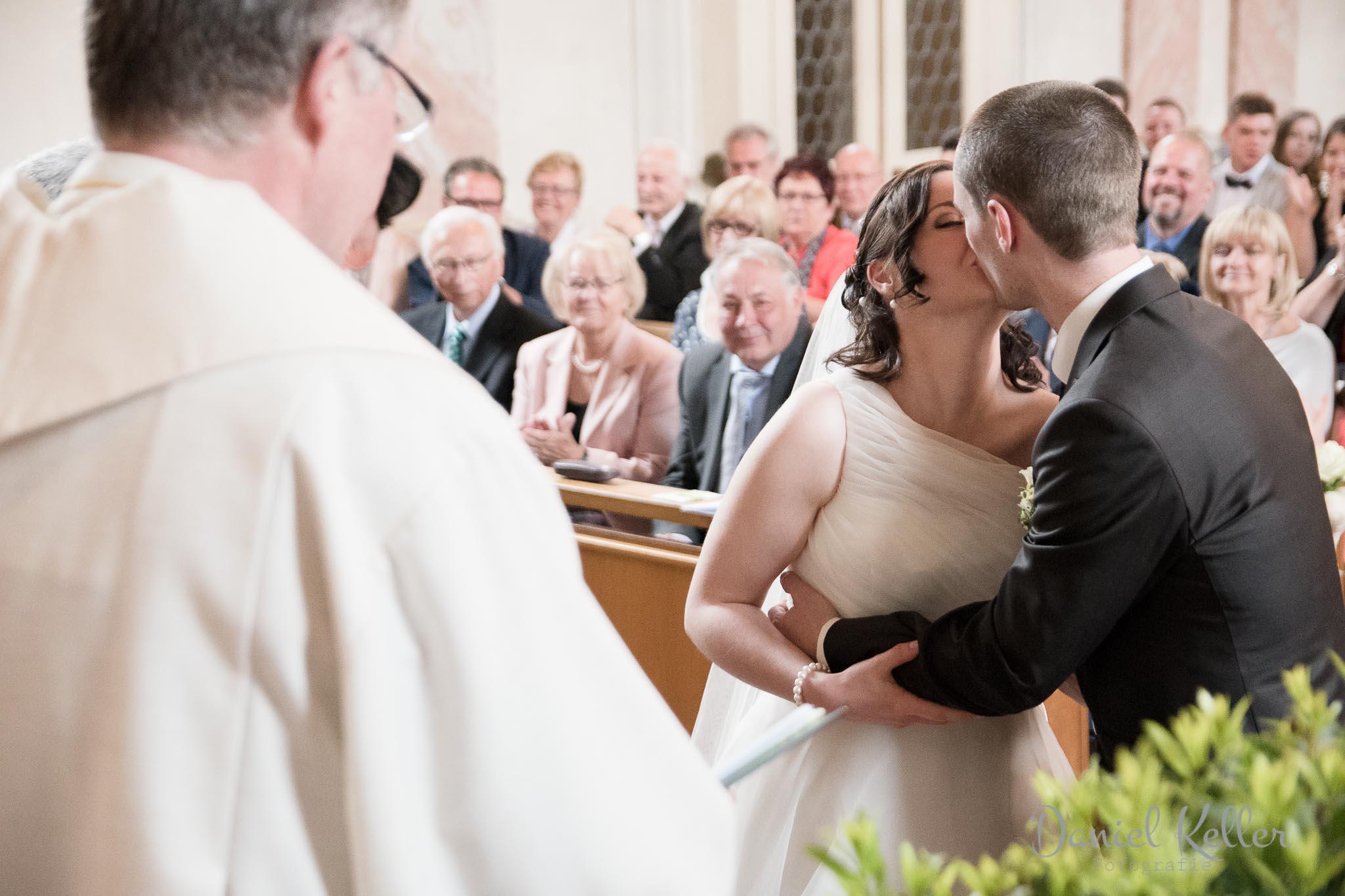 Hochzeitskuss katholische Kirche St. Michael Appenweier
