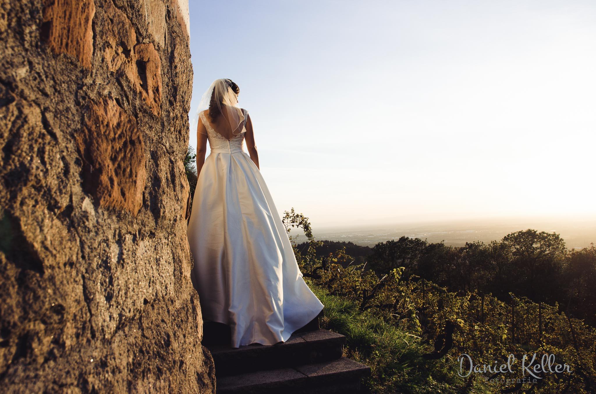 Paarhooting beim Sonnenuntergang Burg Windeck in Bühl / Daniel Keller Hochzeitsfotograf