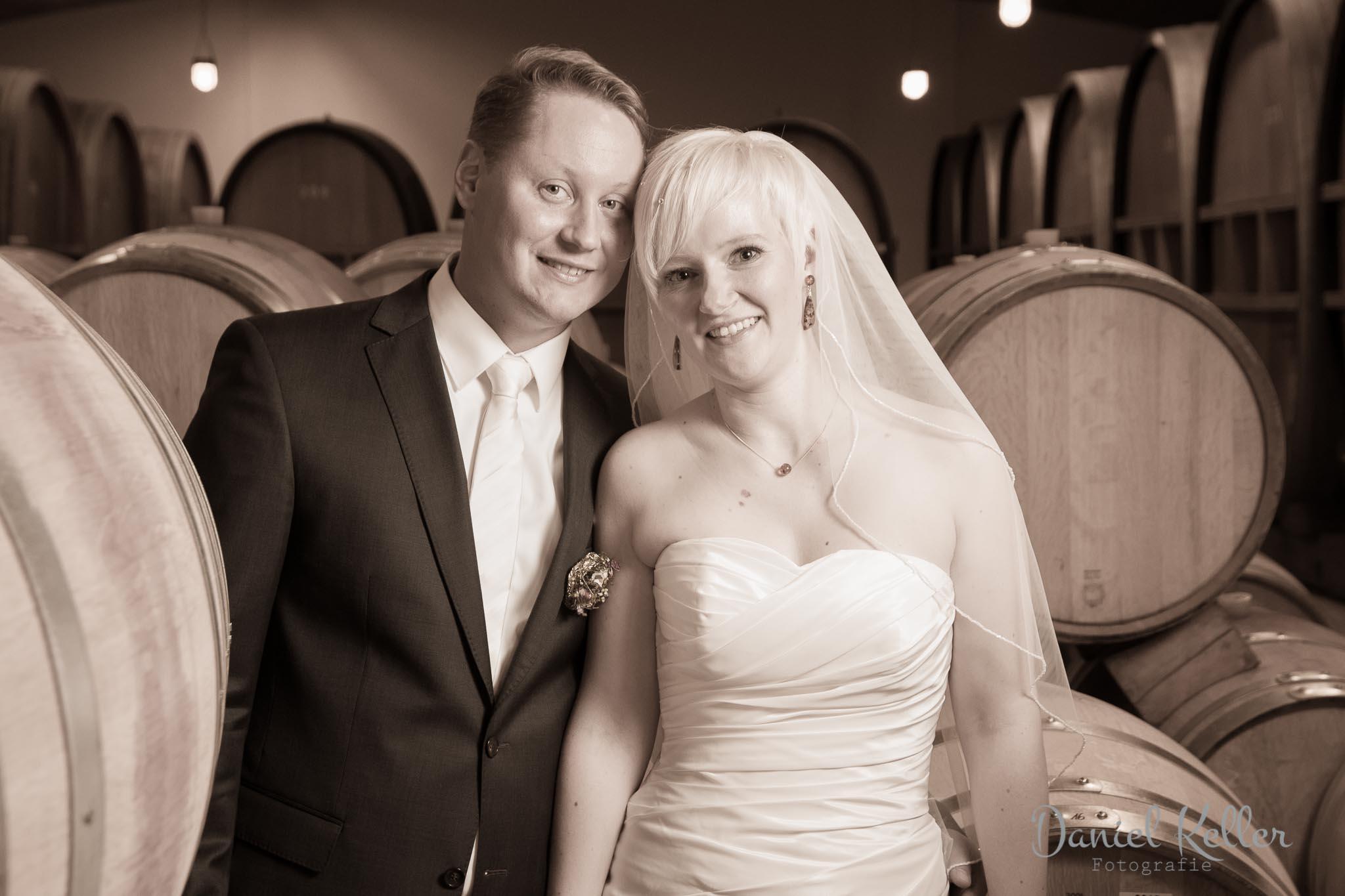Hochzeit Barriquefass Keller Winzergenossenschaft Affentaler Hochzeitsfotograf Bühl