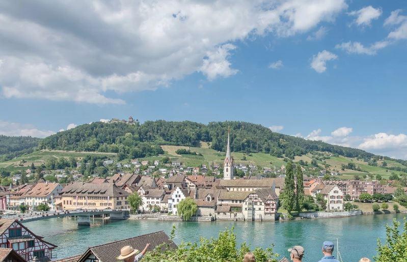 Zum Abschluss unserer schönen Chor-Reise ein kurzer Besuch des historischen Städtchens Stein am Rhein