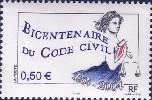 フランス:民法200年記念切手(2004年)