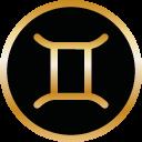 Symbol Sternzeichen Zwillinge von Tomas Kalpa