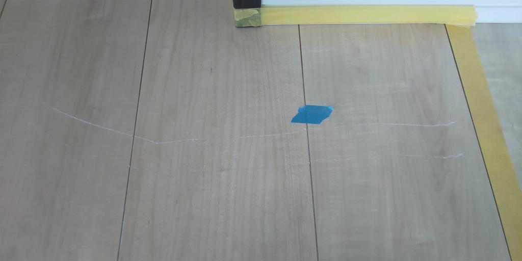 床板 線傷補修