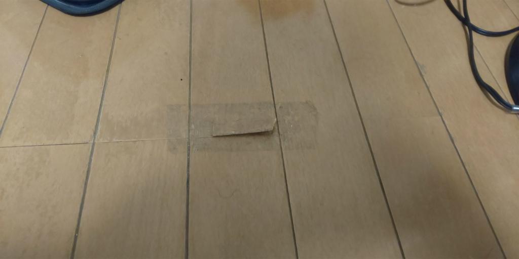 床板 めくれ補修
