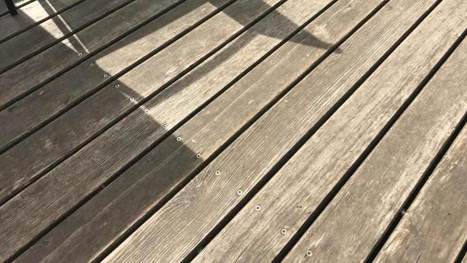 Terrassenholz Lärche sibirisch Rift VEH-TOP vergraut