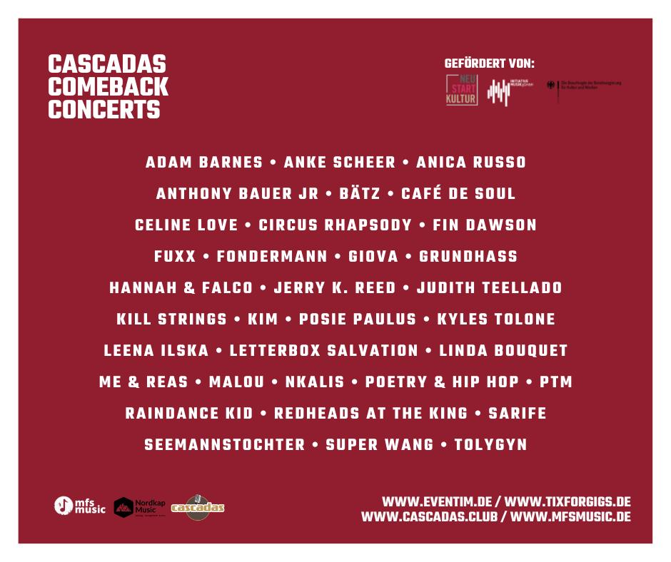 Cascadas Comeback Concerts
