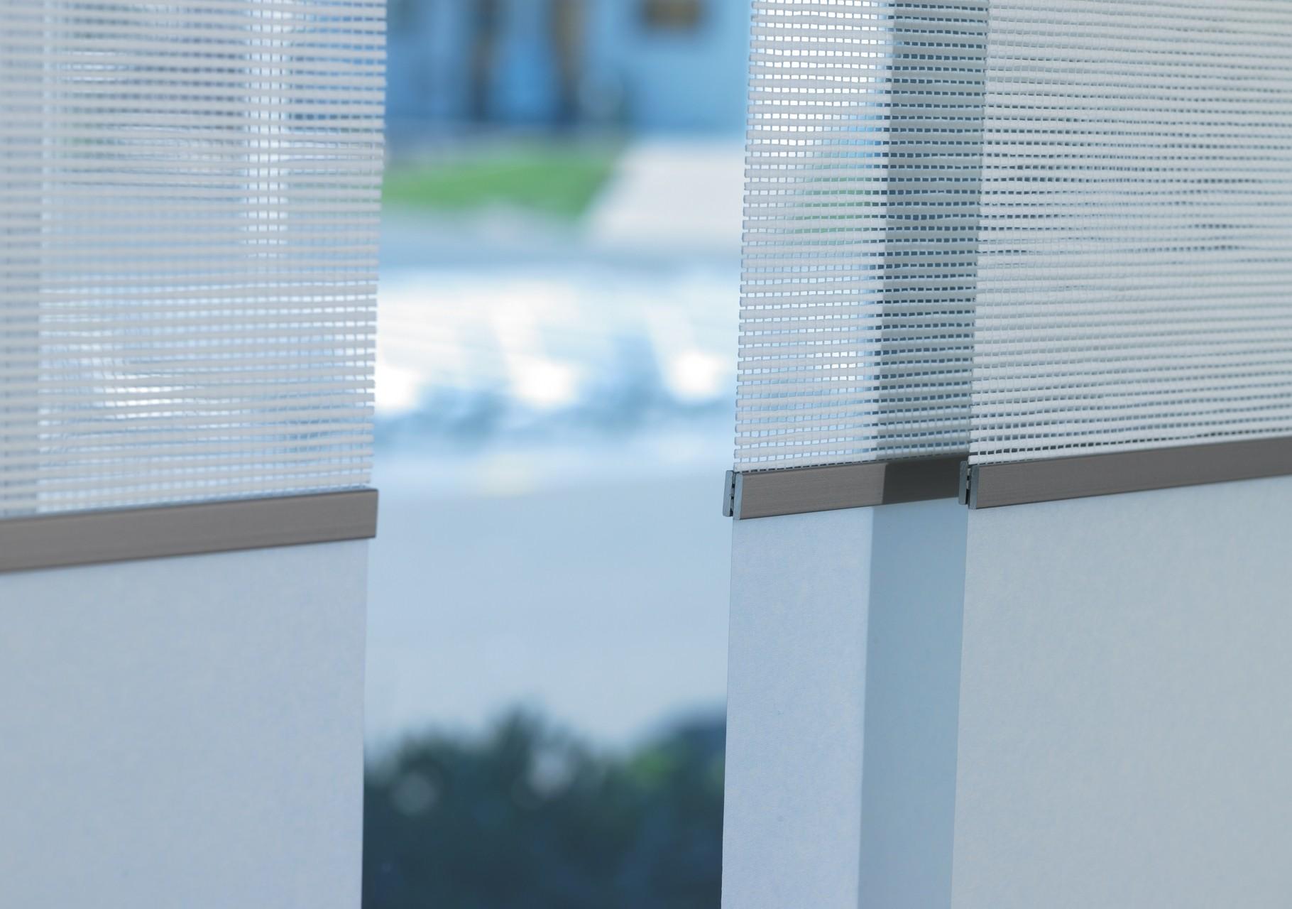 Flächenvorhang - Papier Gewebe Aluminium