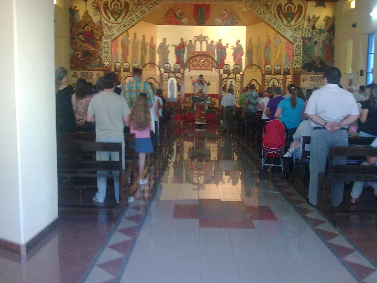 Con los hermanos de rito bizantino