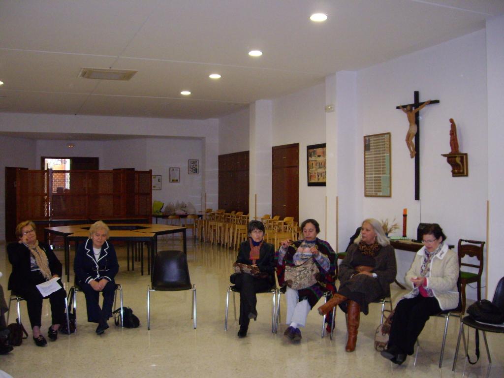 salon del monasterio, durante el retiro
