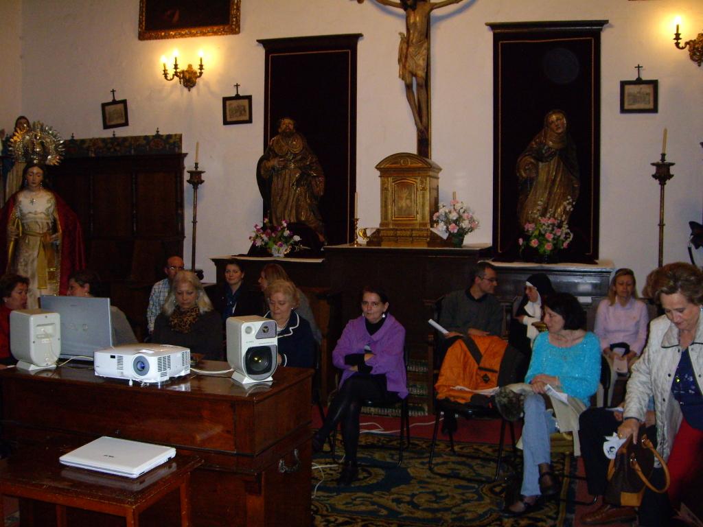 Monasterio de Madre de Dios, encuentro de los Laicos con Fray David OP