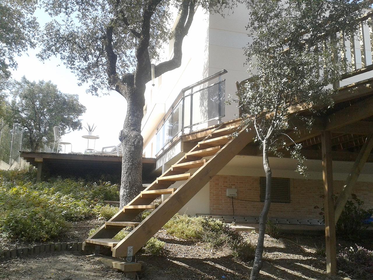 Las Terrazas para la Casa de Charles y Eva. Vista de la escalera