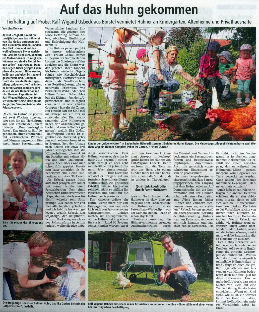 Achimer Kreisblatt 27.06.2017