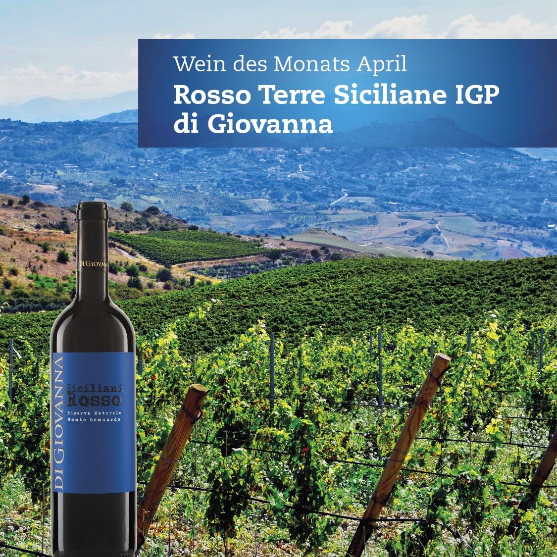 Eine Slideshow stellt den Wein vor, den Siciliana Rosso aus dem April zum Beispiel so...