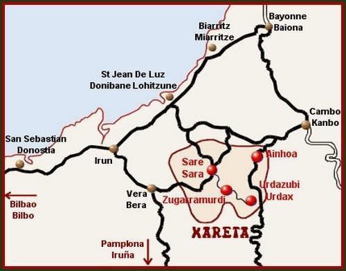 Carte de situtation du territoire de Xareta