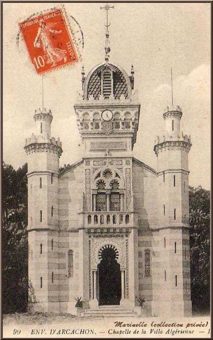 La Chapelle Algérienne autrefois, Village de L'Herbe, Bassin d'Arcachon (carte postale ancienne, collection privée)