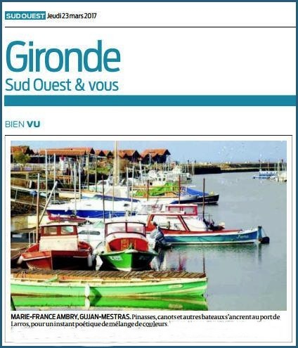Photo Marinelle sur Journal Sud-Ouest, page Gironde, édition du 23/03/2017