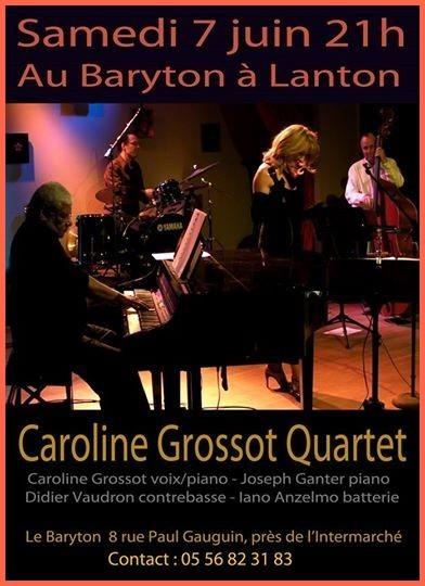 Flyer concert au Baryton à Lanton le 7 juin 2014