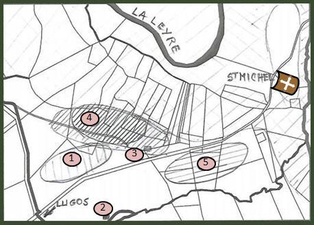 Carte location de l'ancien village de Vieux Lugo