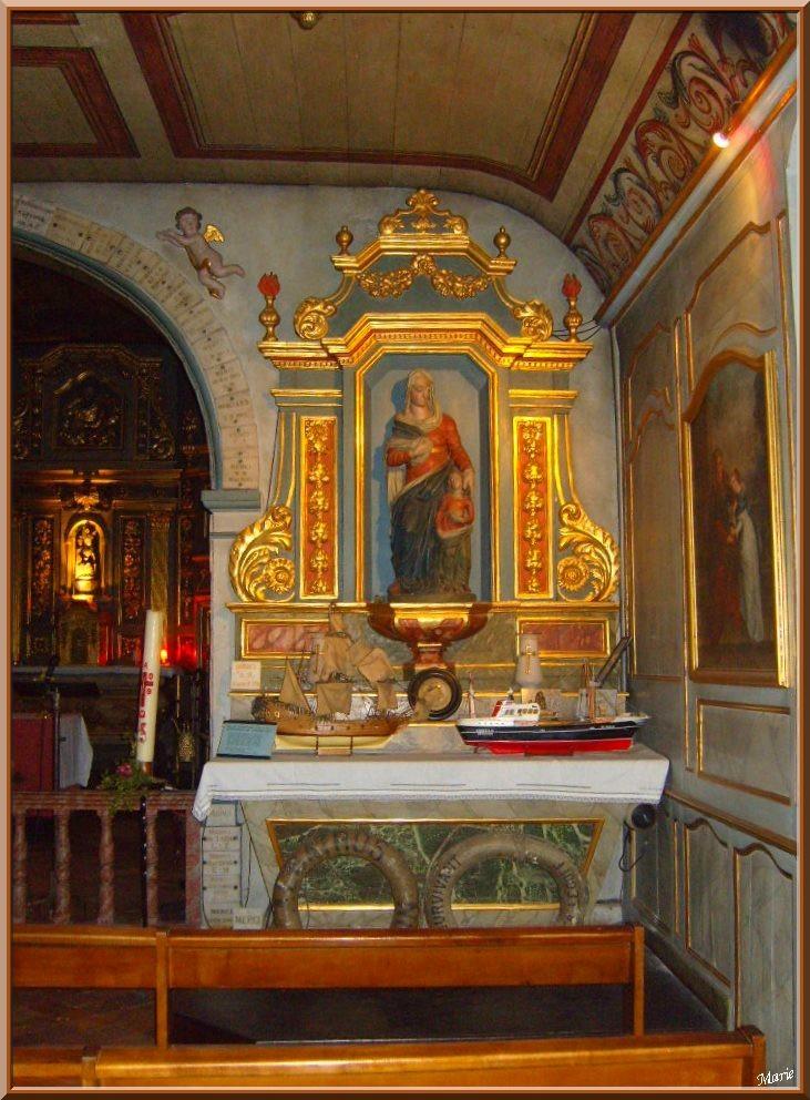 Autel central de la Chapelle des Marins (côté droit), Basilique Notre Dame d'Arcachon, Ville de Printemps