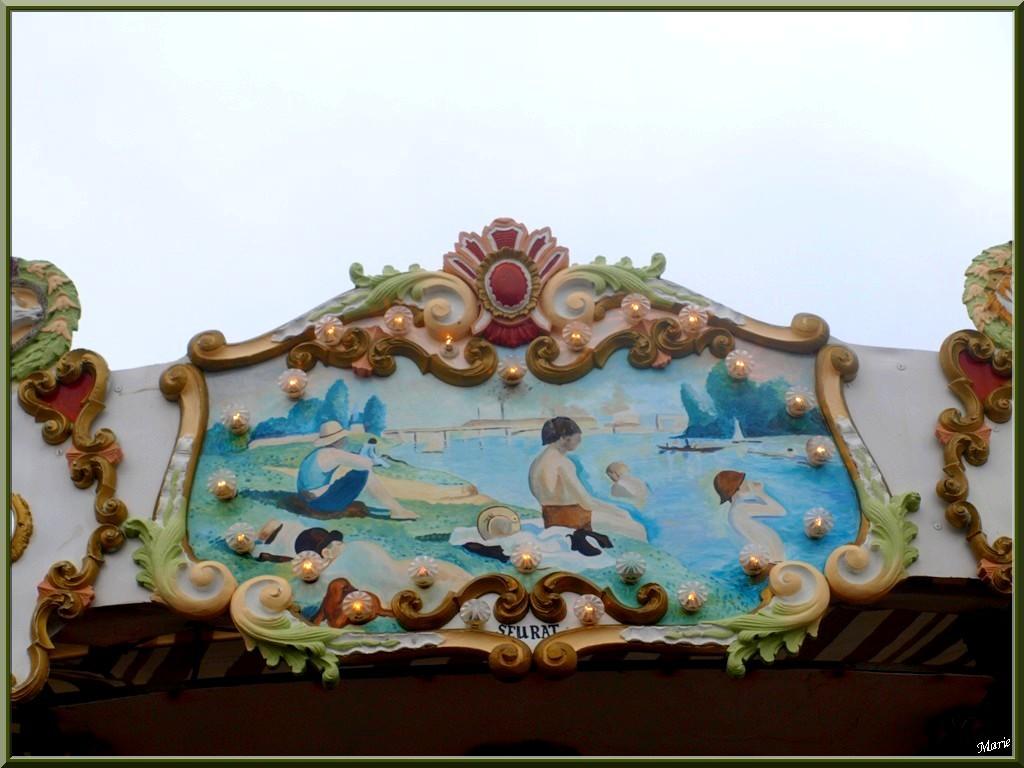 """Le Carrousel 1900 à la jetée d'Eyrac à Arcachon, """"Ville d'Eté, détail haut extérieur"""