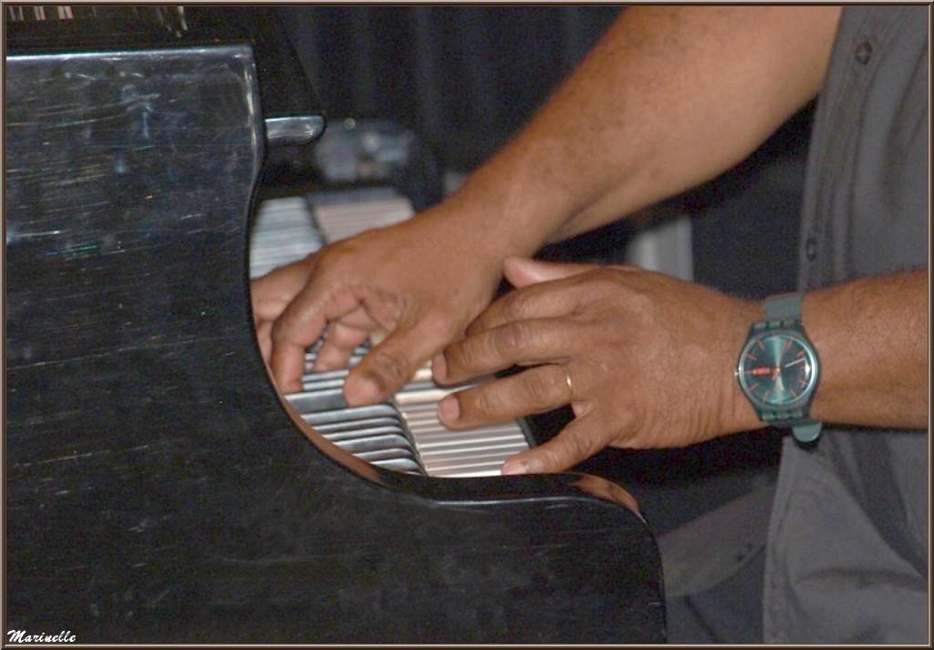 Les mains du Maître Joseph Ganter au piano, concert Caroline Grossot au Baryton à Lanton le 7 juin 2014