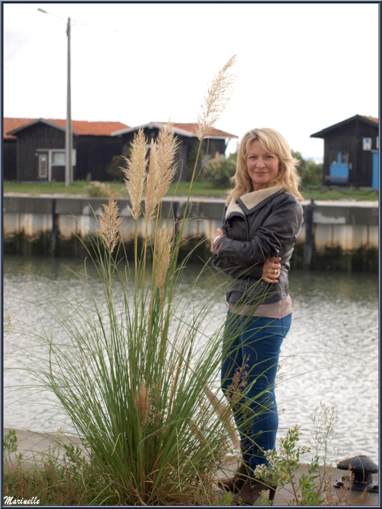 Caroline Grossot, au Port du Canal à Gujan-Mestras, Bassin d'Arcachon