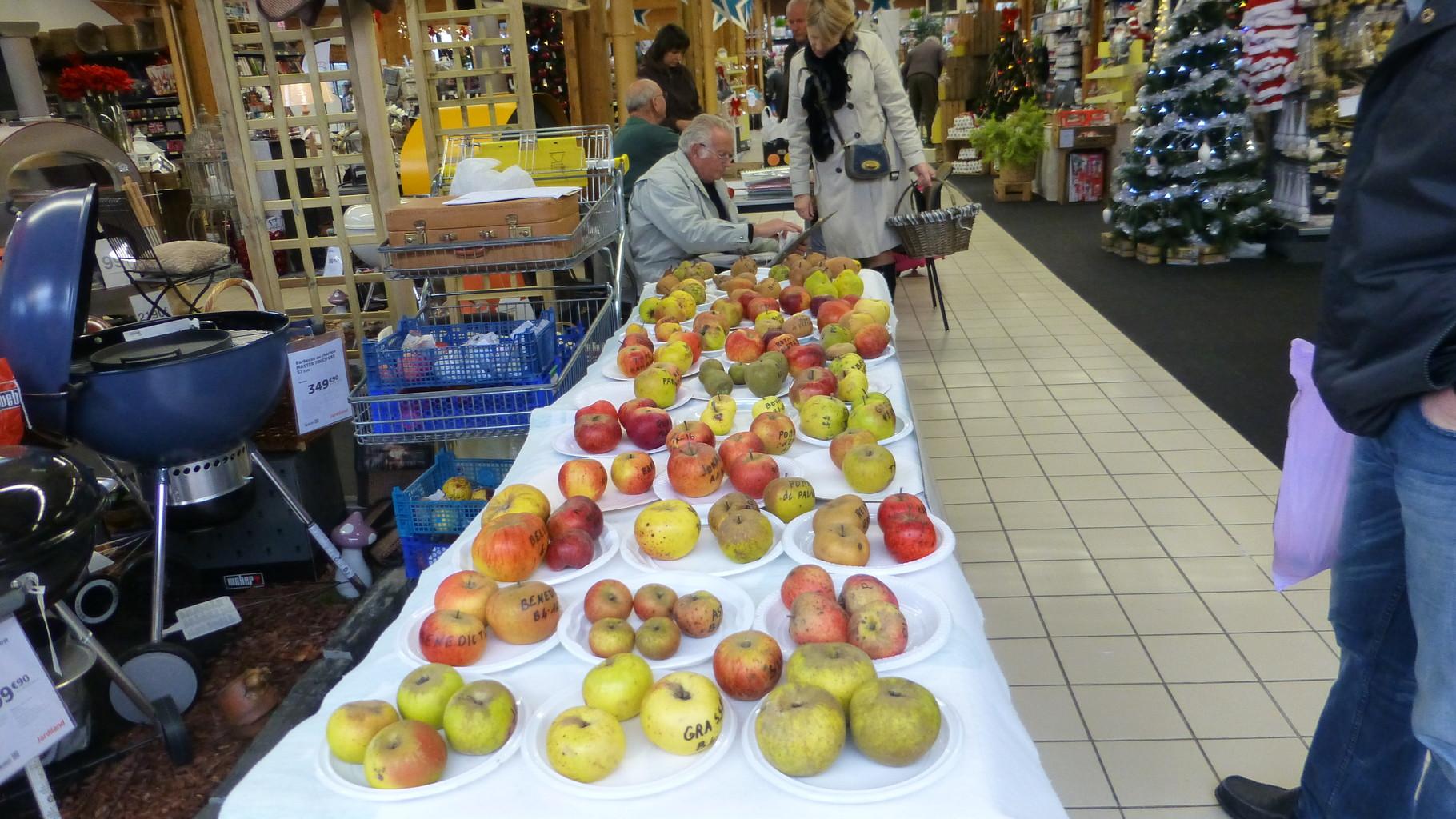 Les fruits exposés...