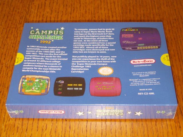 Campus Challenge 1992 OVP back Repro