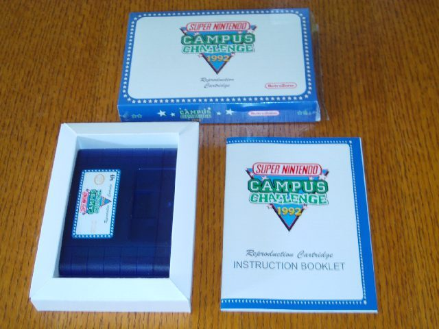 Campus Challenge 1992 Cartridge All Repro