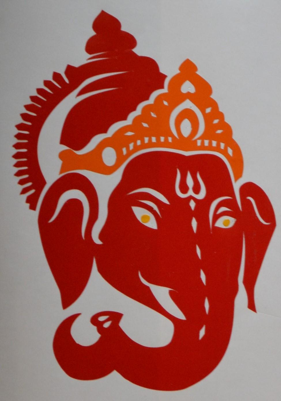 Sticker Ganesh bicolore