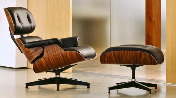 réfection de lounge chair Eames avec l'atelier partenaire Hafner tapissier / fabrication de coques identiques à l'original en palissandre ou noyer