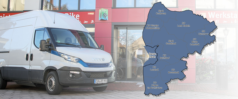Liefergebiet: Landkreis Cuxhaven inkl. Bremerhaven