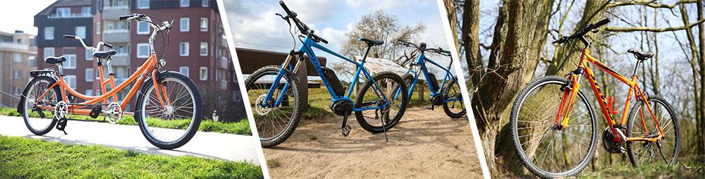 Tandems, E-Mountainbikes, Sporträder