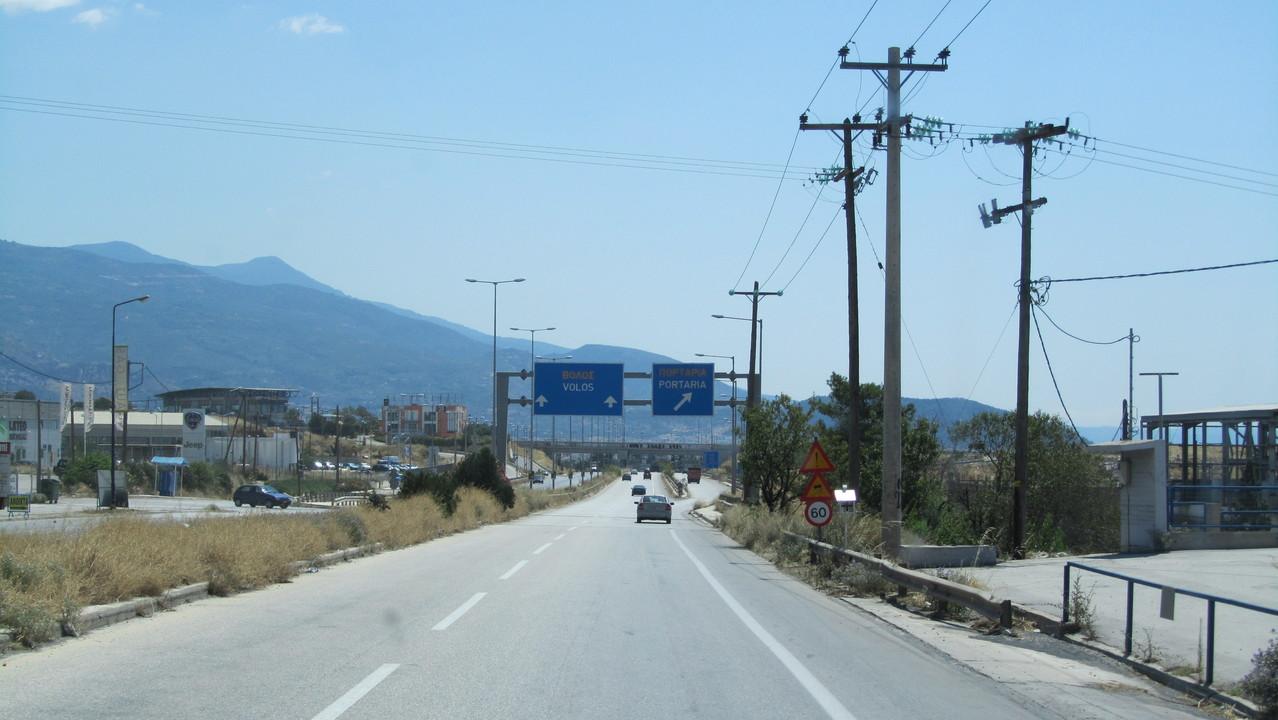 Straße nach Volos
