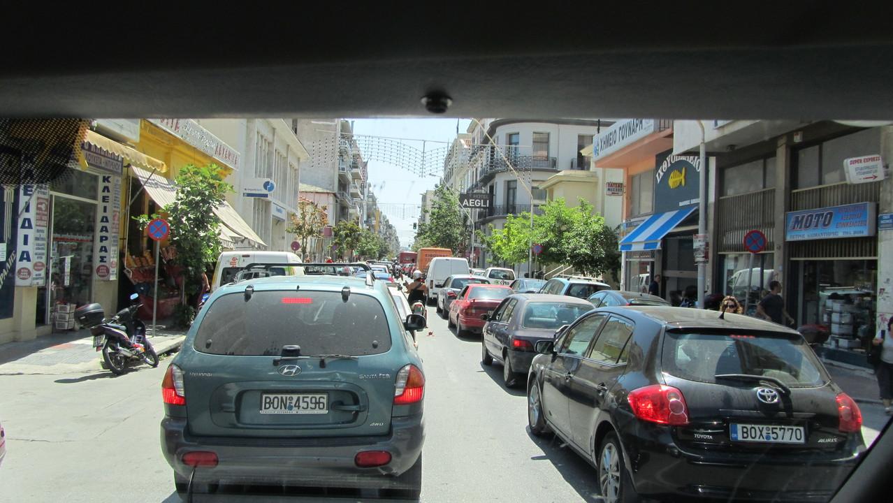 Volos Zentrum (der Verkehr sehr südländisch!)