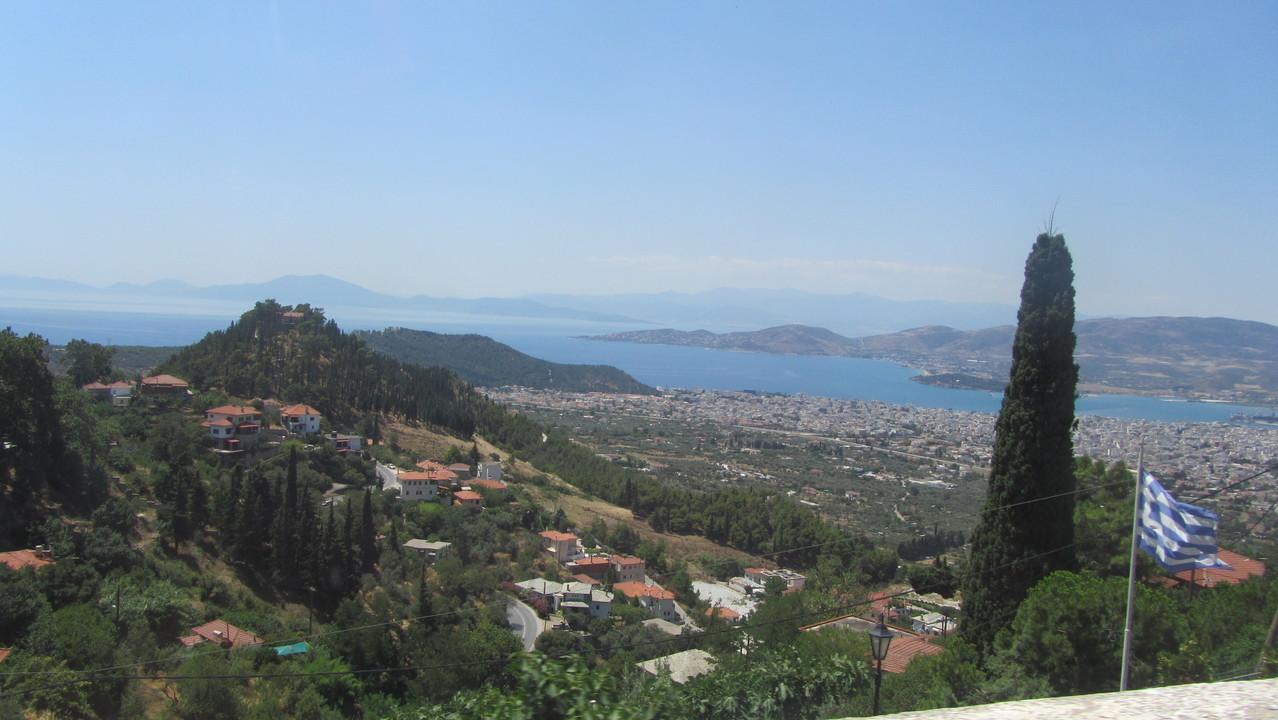 Blick vom Pilion auf Volos