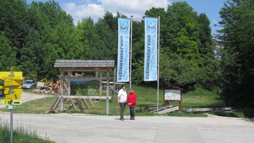 Jagasitz (der Zugang zur Steinwandklamm befindet sich rechts im Bild)