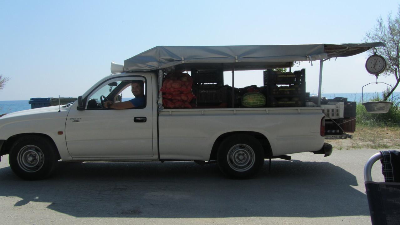 Obst und Gemüsehändler