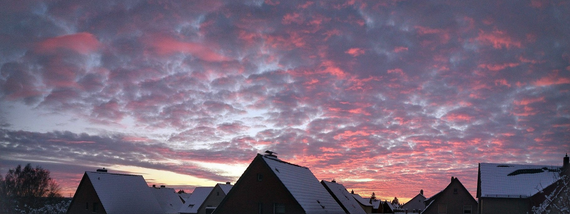 ~ Bild: Pano(d)rama 'Fiery' Winter Sunset in Peine ~