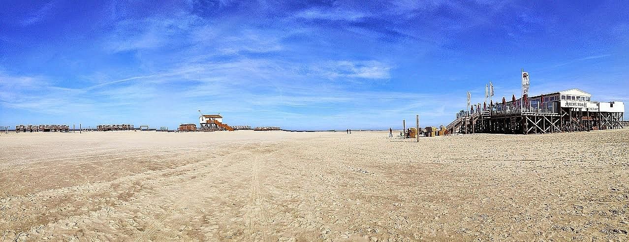"~ Bild: Pano(d)rama Strand von Sankt Peter Ording (""Arche Noah"")~"