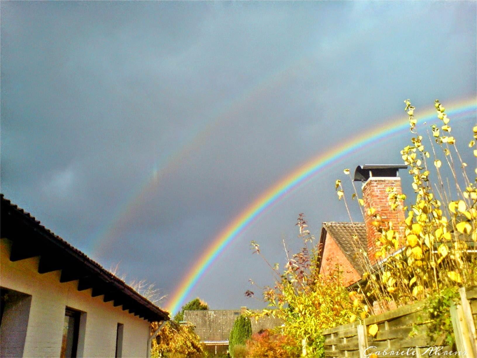 ~ Bild: Dreifach-Regenbogen bei Sittensen ~