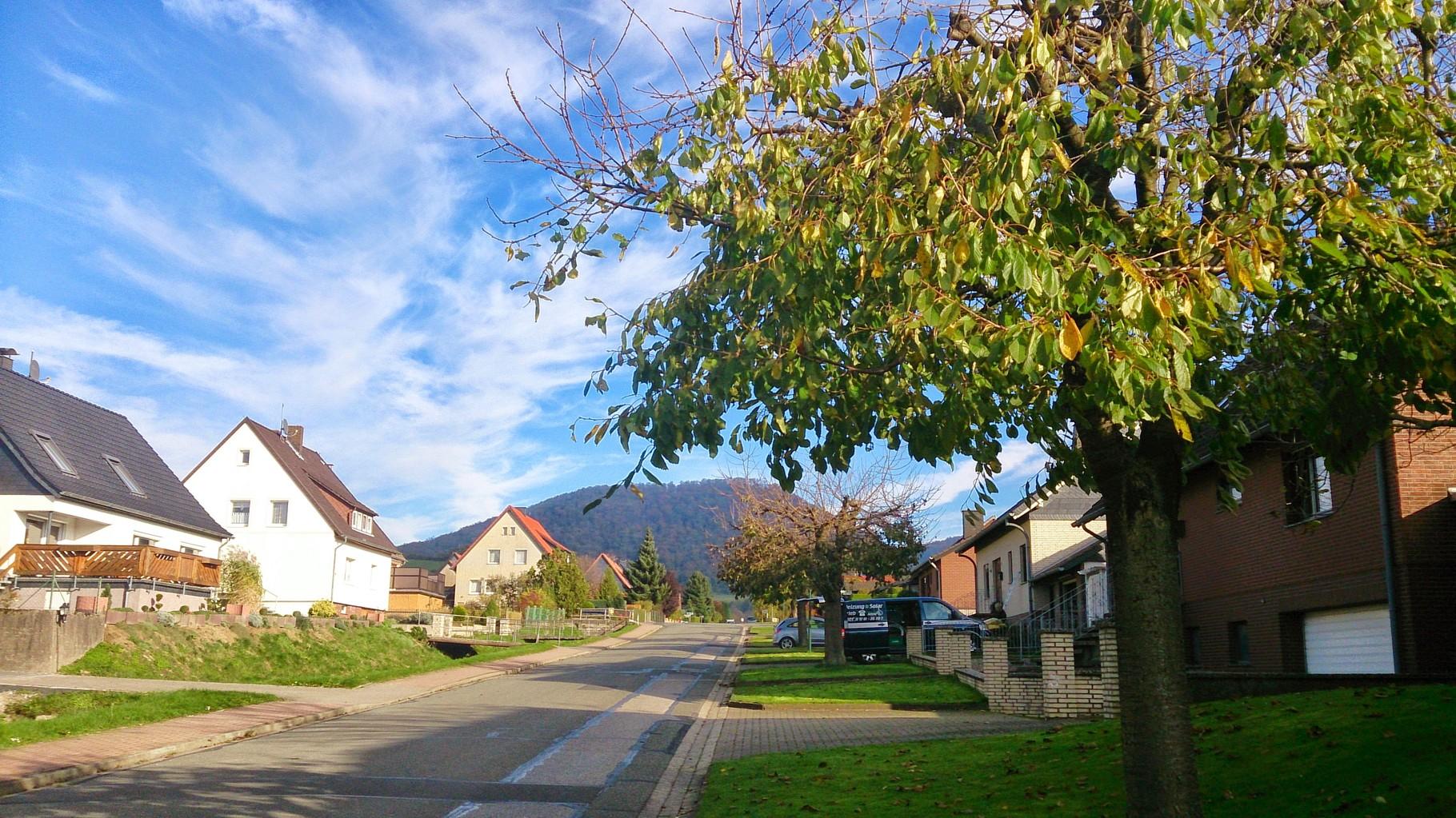 ~ Bild: Ausblick auf den Hörzen am Kirschweg in Brüggen (Leine) ~