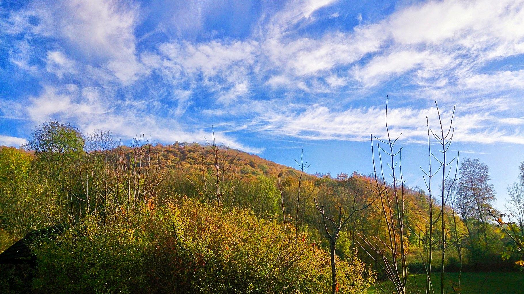 ~ Bild: Kirschweg mit Ausblick auf den Tafelberg ~