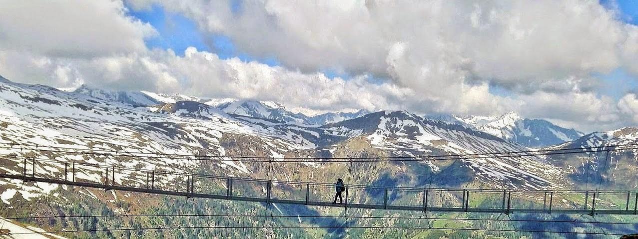 ~ Bild: Pano(d)rama Hängebrücke am Stubnerkogel, Österreich ~