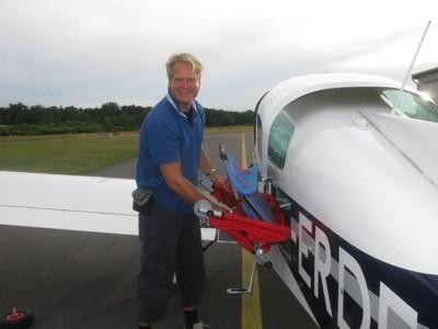 ulfBo im Kleinflugzeug