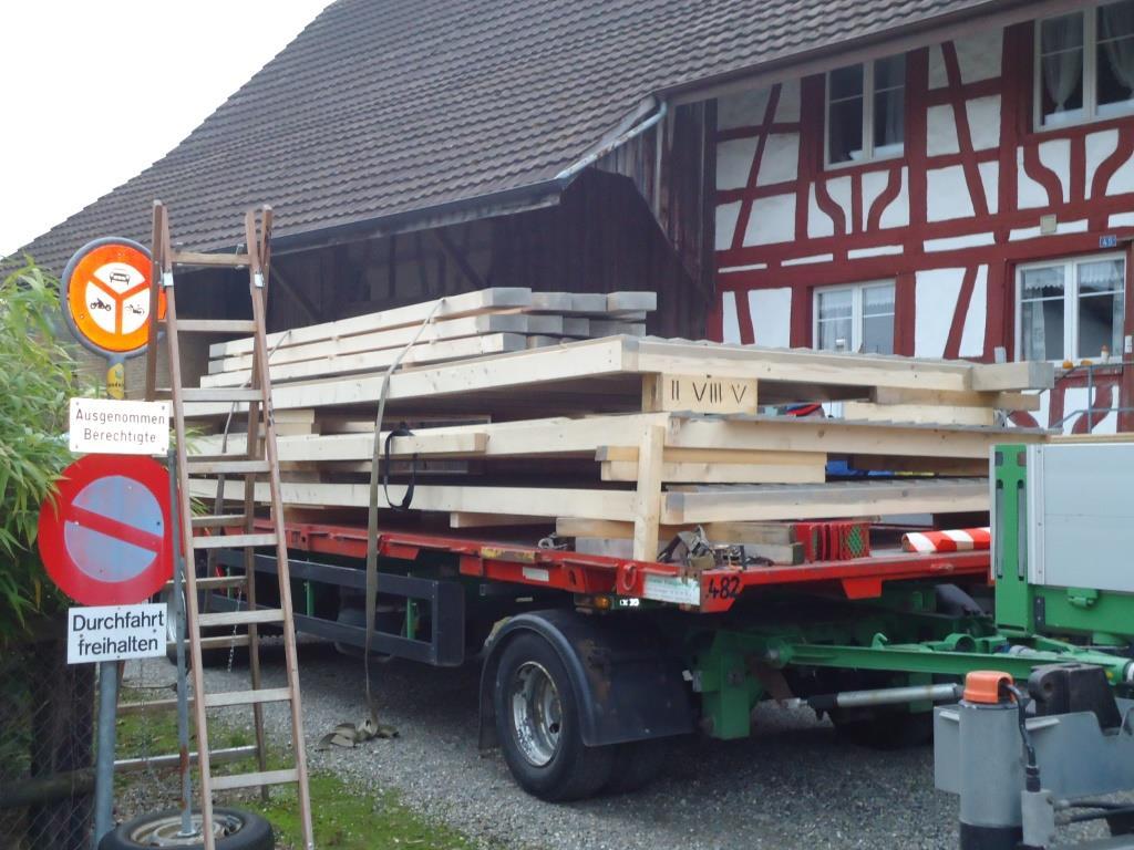 Der neue Pavillion auf dem Lastwagen